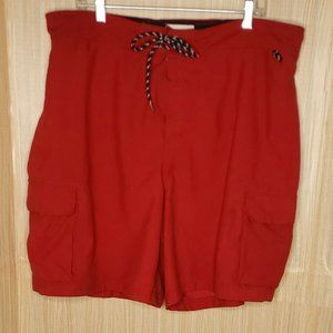 Nautica Mens Red Swim Trunks XXL